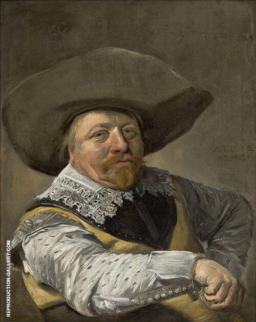Oficial Sentado 1631 By Franz Hals