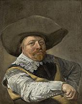 Oficial Sentado 1631 By Frans Hals
