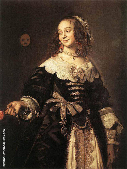 Portrait d'Isabella Coymans Painting By Frans Hals - Reproduction Gallery