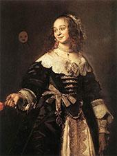 Portrait d'Isabella Coymans By Frans Hals