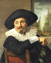 Portrait of Isaac Abrahamsz Massa 1626 By Frans Hals