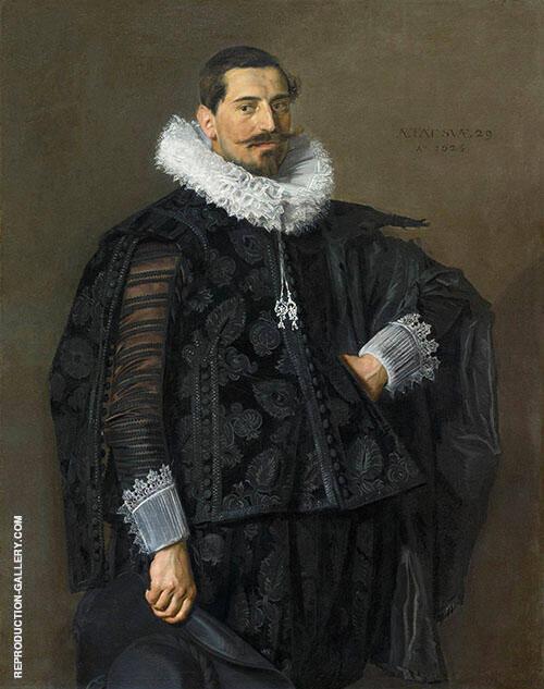 Portrait of Jacob Pietersz Olycan 1596 Painting By Frans Hals