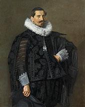 Portrait of Jacob Pietersz Olycan 1596 By Frans Hals
