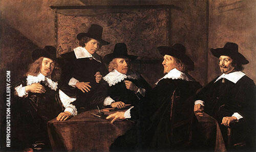 Regents of The St Elizabeth Hospital of Haarlem 1641 By Franz Hals