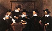 Regents of The St Elizabeth Hospital of Haarlem 1641 By Frans Hals