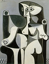 Seated Woman Jacqueline 1962 By Pablo Picasso