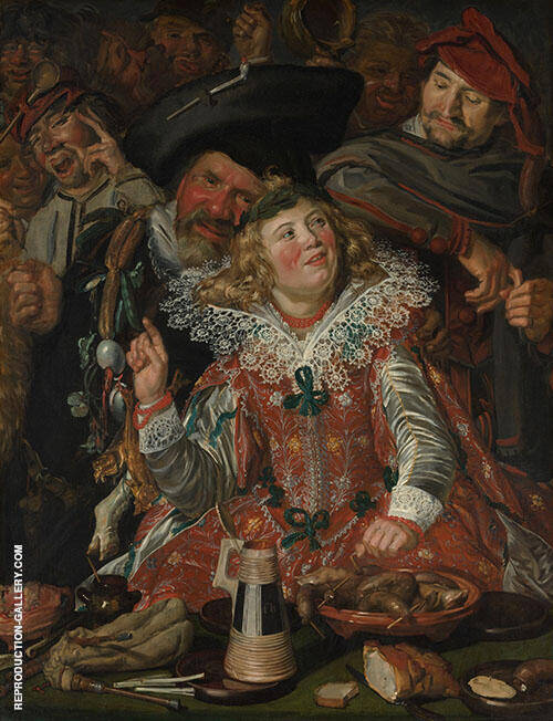 Shrovetide Revellers 1615 Painting By Frans Hals - Reproduction Gallery
