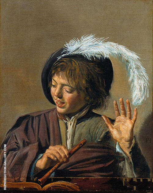 Singing Boy with Flute By Frans Hals