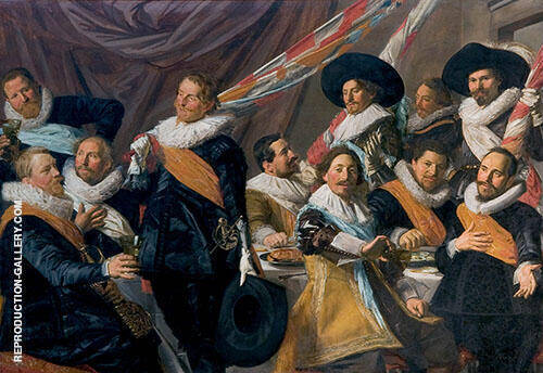 The Banquet of The Officers of The St George Militia Company in1627 By Frans Hals