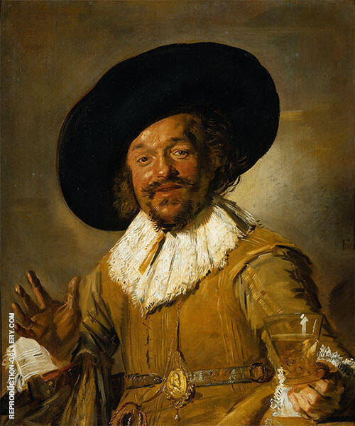 The Merry Drinker 1628 By Franz Hals