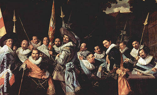The Officers of The St Adrian Militia Company in 1633 By Frans Hals