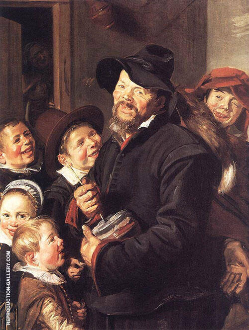 The Rommel Pot Player 1618 Painting By Frans Hals - Reproduction Gallery