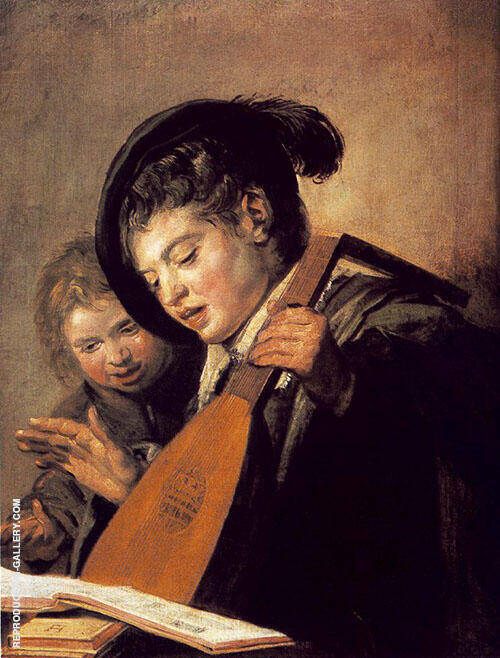Two Boys Singing 1625 By Frans Hals