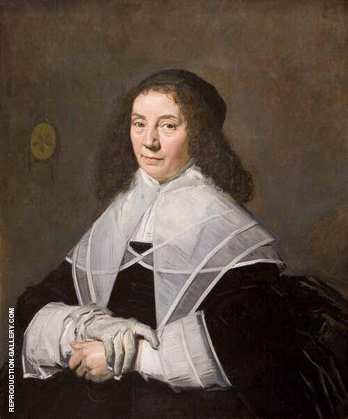 Wife of Joseph Coymans 1644 Painting By Frans Hals - Reproduction Gallery
