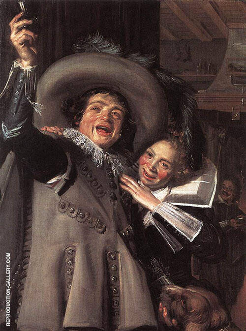 Yonker Ramp and His Sweetheart 1623 By Frans Hals