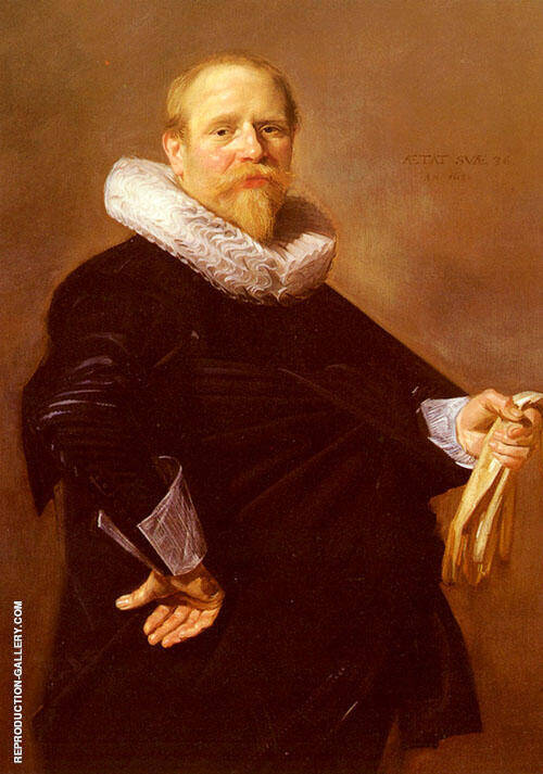 Portrait of A Man 1630 By Frans Hals