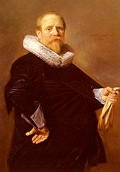 Portrait of A Man 1630 By Frans Hals