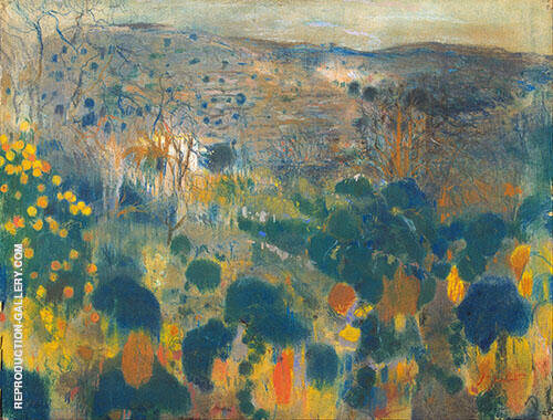 Landscape 1900 By Joaquin Mir Trinxet
