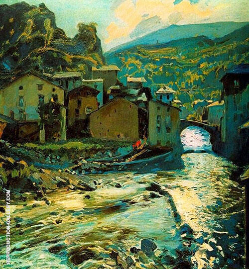 Pont de Les Escaldes By Joaquin Mir Trinxet