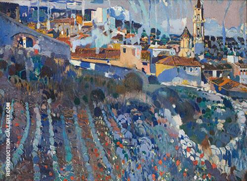 Terraced Village 1909 By Joaquin Mir Trinxet