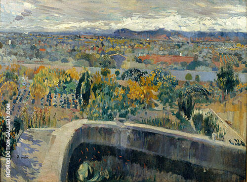The New Pond Around 1907 By Joaquin Mir Trinxet