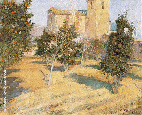 The Rector's Orchard 1896 By Joaquin Mir Trinxet