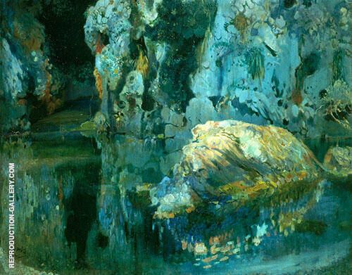 The Rock in The Pond 1903 By Joaquin Mir Trinxet