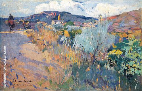 View of L'Aleixar 1915 By Joaquin Mir Trinxet