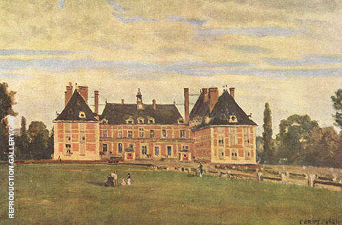 Chateau de Rosny 1840 Painting By Jean-baptiste Corot