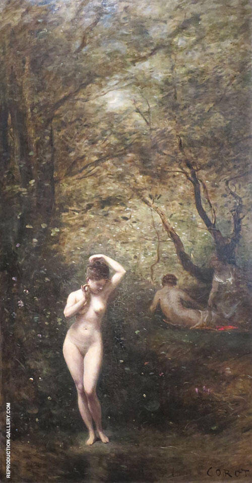 Diana Bathing 1873 By Jean-baptiste Corot