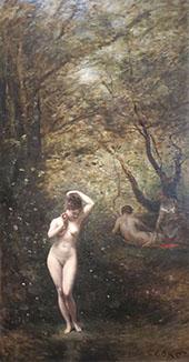 Diana Bathing 1873 By Jean-baptiste Corot