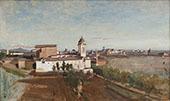 La Trinite des Monts seen from The Villa Medici 1825 By Jean-baptiste Corot