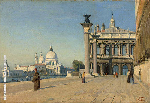 Morning in Venice 1834 Painting By Jean-baptiste Corot
