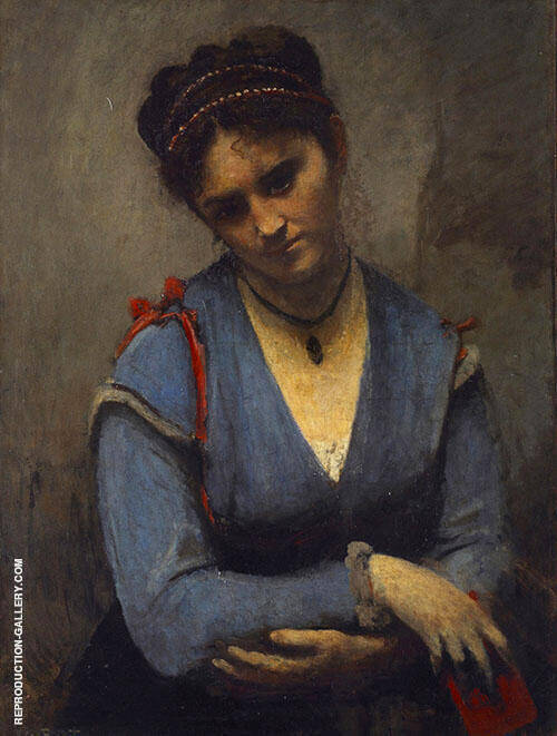 Portrait of Mariette Gambay 1869 Painting By Jean-baptiste Corot