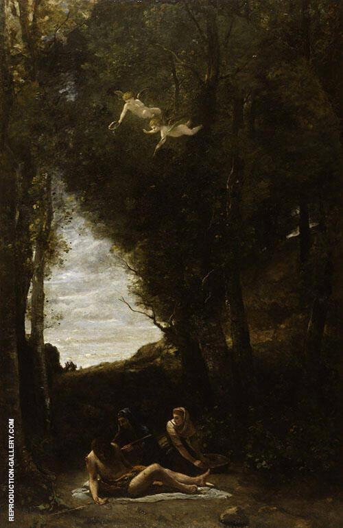 St Sebastian Succoured by Holy Women Painting By Jean-baptiste Corot