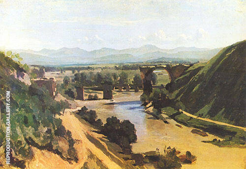 The Bridge at Narni 1826 By Jean-baptiste Corot