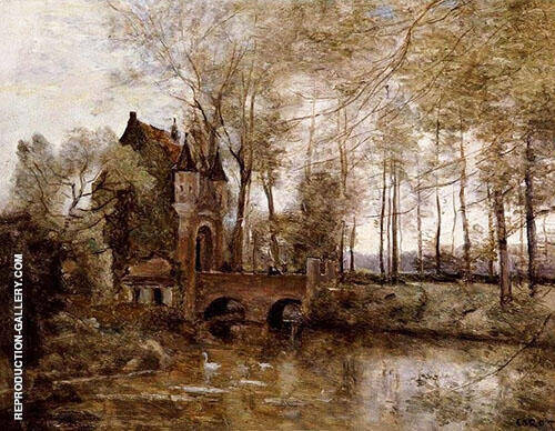 The Castle of Wagnonville By Jean-baptiste Corot