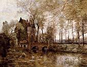 The Castle of Wagnonville By Jean-baptiste Corot