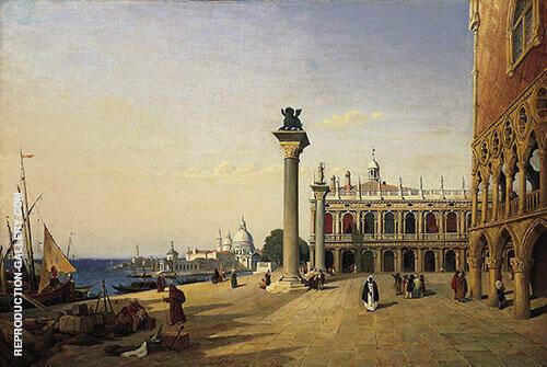 Venise La Piazzetta 1835 By Jean-baptiste Corot