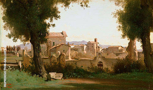 View from The Farnese Gardens 1826 By Jean-baptiste Corot