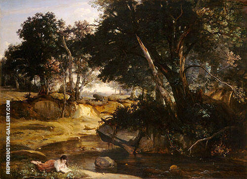 View of The Forest of Fontainebleau 1830 By Jean-baptiste Corot