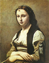 Woman with a Pearl 1868 By Jean-baptiste Corot