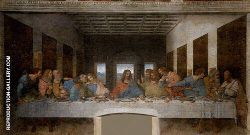 The Last Supper Painting By Leonardo da Vinci - Reproduction Gallery