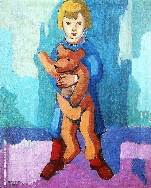 Algot with Teddy Bear 1921 By Axel Torneman