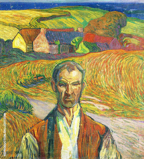 Farmer in Brittany 1905 By Axel Torneman