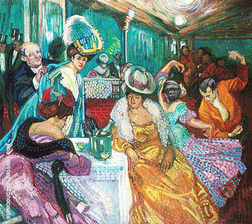 Night Cafe I 1905 By Axel Torneman