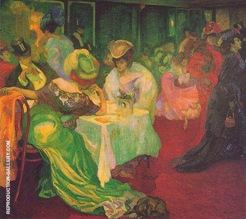 Night Cafe II 1905 By Axel Torneman