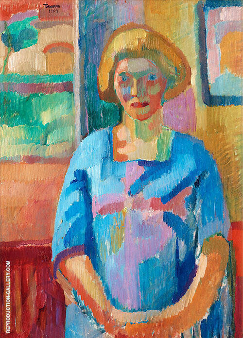 Portrait of The Artist's Wife 1909 By Axel Torneman