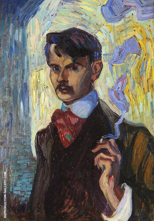 Self Portrait 1905 By Axel Torneman