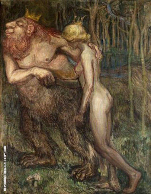 The Troll King and The Princess 1925 By Axel Torneman